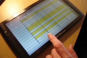 Setting a rota on a tablet computer