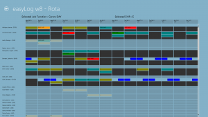 staff scheduling with the easyLog rota app