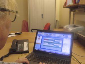 Using the easyLog electronic rota software