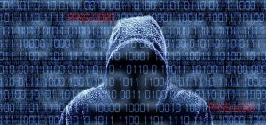 hooded hacker to indicate internet security
